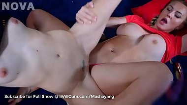 Lesbians Squirt All Over Each Other in Orgasm Race