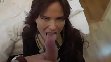 Horny american mature MILF picked up by stranger and fucked for the money