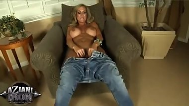 Brandi Love in Jeans Solo Masturbation