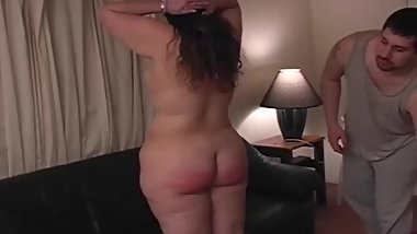 BDSM Discipline For BBW Amateur Wife For Good Learning