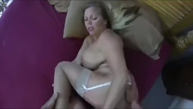Gorgeous stepmom with big ass gets rough fucked by her stepson