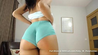 Try Not to Cum Watching this Big Butt Latina With Puffy Pussy Lips Orgasm