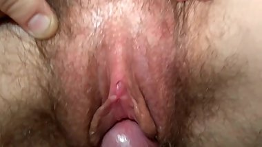Brother rubs my wives clit with his cock.