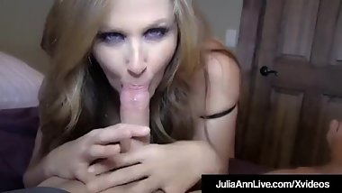 Julia Ann pov blowjob